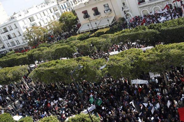 manifestation pro-ennahda à Tunis