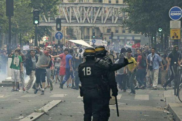 Manifestation pro palestinienne Paris 930620