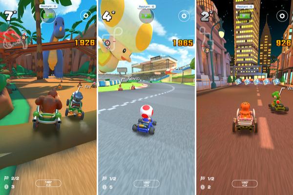 Tous les personnages cultes de Nintendo se retrouvent dans Mario Kart Tour.