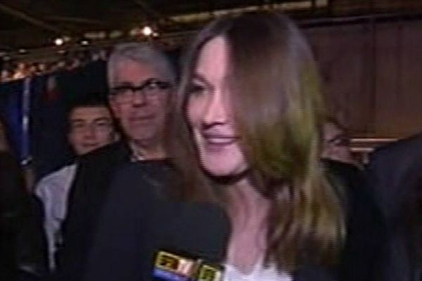 meeting villepinte carla bruni CAPTURE BFM 930620