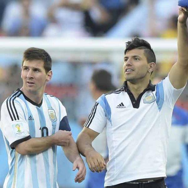 Messi et Agüero, ensemble lors du Mondial au Brésil.