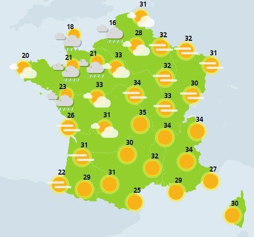 météo du 24 juin crédit : Météo France