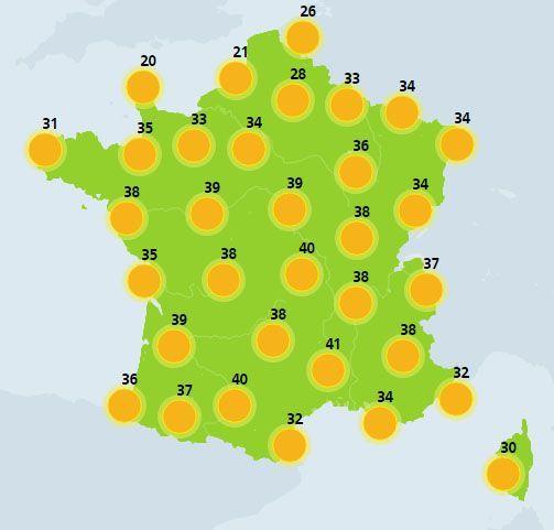 météo du 27 juin crédit : Météo France