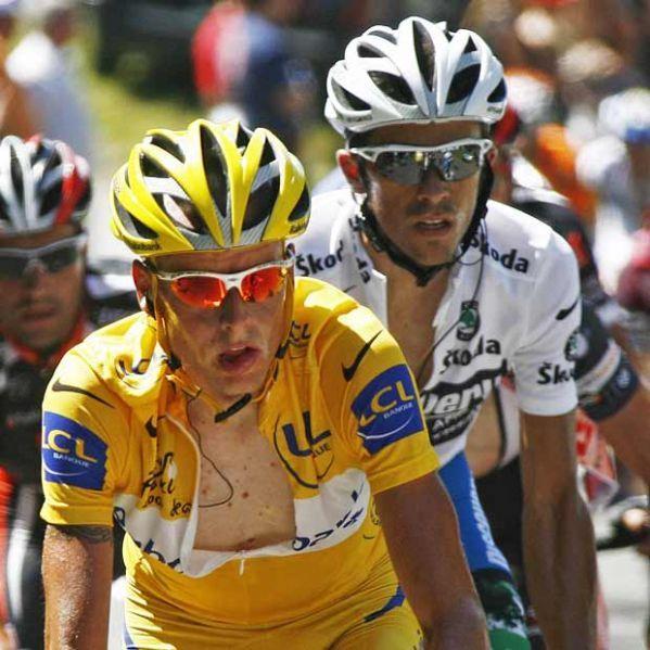 Michael Rasmussen et Alberton Contador