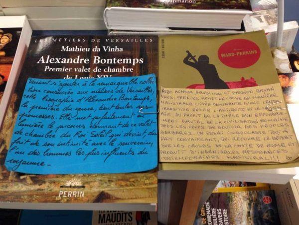 Mots doux des libraires