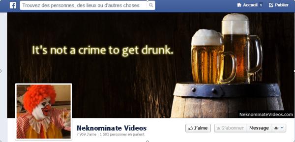 Neknomination video facebook