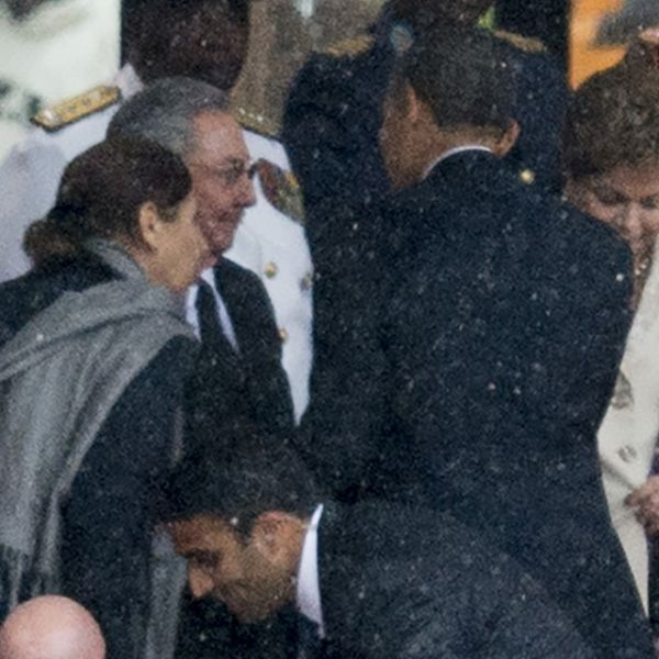 Obama et Castro s'étaient déjà salués en 2013, en Afrique du Sud.