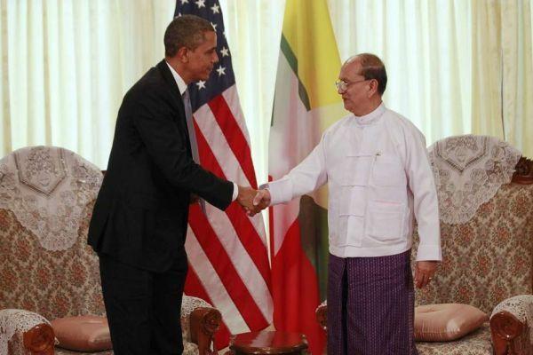 obama et thein sein, birmanie