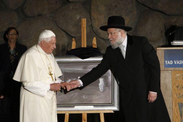 pape au mémorial de l'holocauste