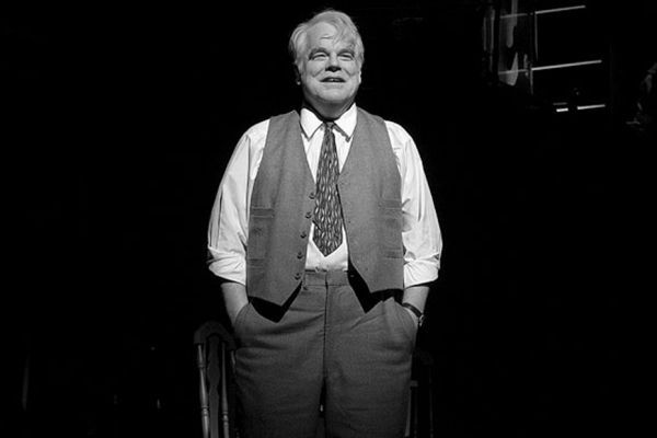 Philip Seymour Hoffman dans la pièce Mort d'un commis voyageur, à Broadway