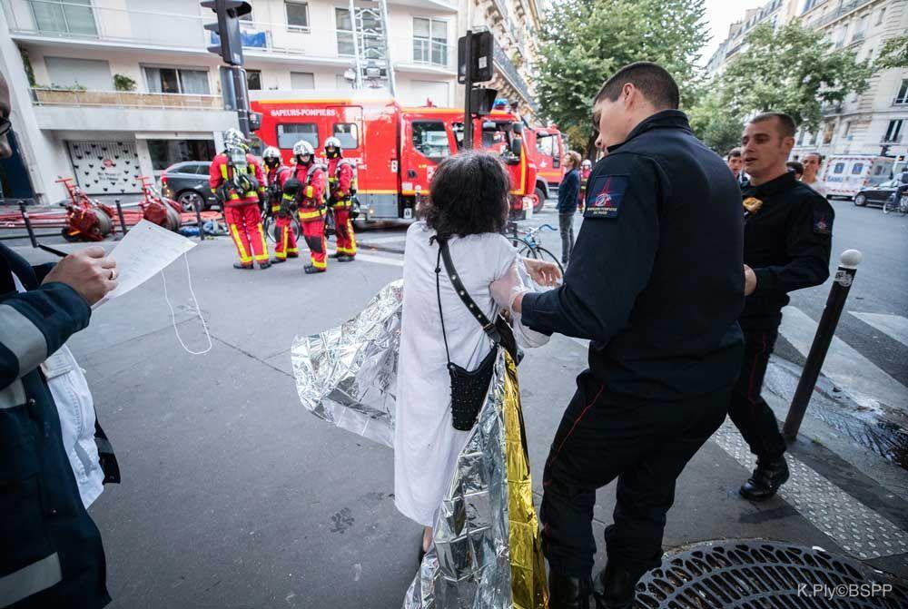 photos incendie rue de Nemours, Paris crédit : Brigade des sapeurs pompiers de Paris