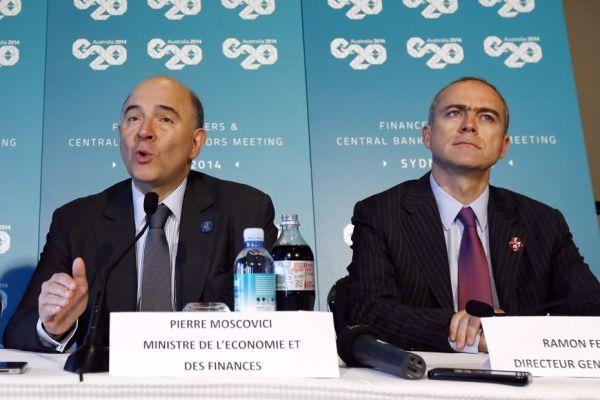 Pierre Moscovici et Ramon Fernandez