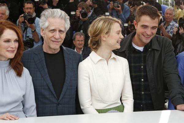 Robert Pattinson, David Cronenberg, Julianne Moore et Mia Wasikowska.