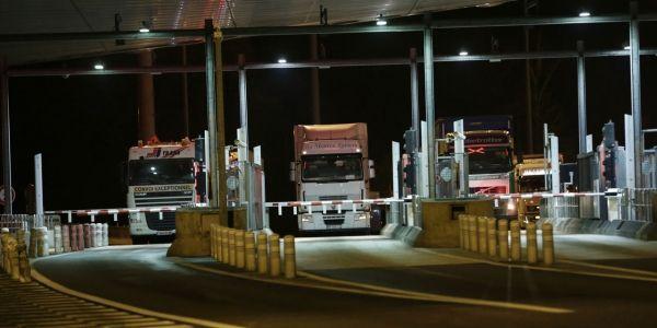 Routiers grève camions peage AFP 1280