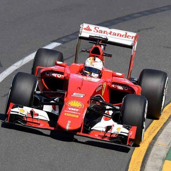 Sebastian Vettel, lors des essais du GP d'Australie.