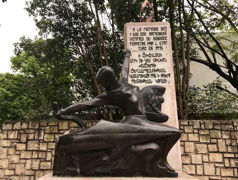 Statue génocide arménien, Valence crédit : Justin Morin / Europe 1
