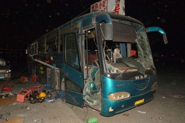Tianjin bus STR / AFP 714