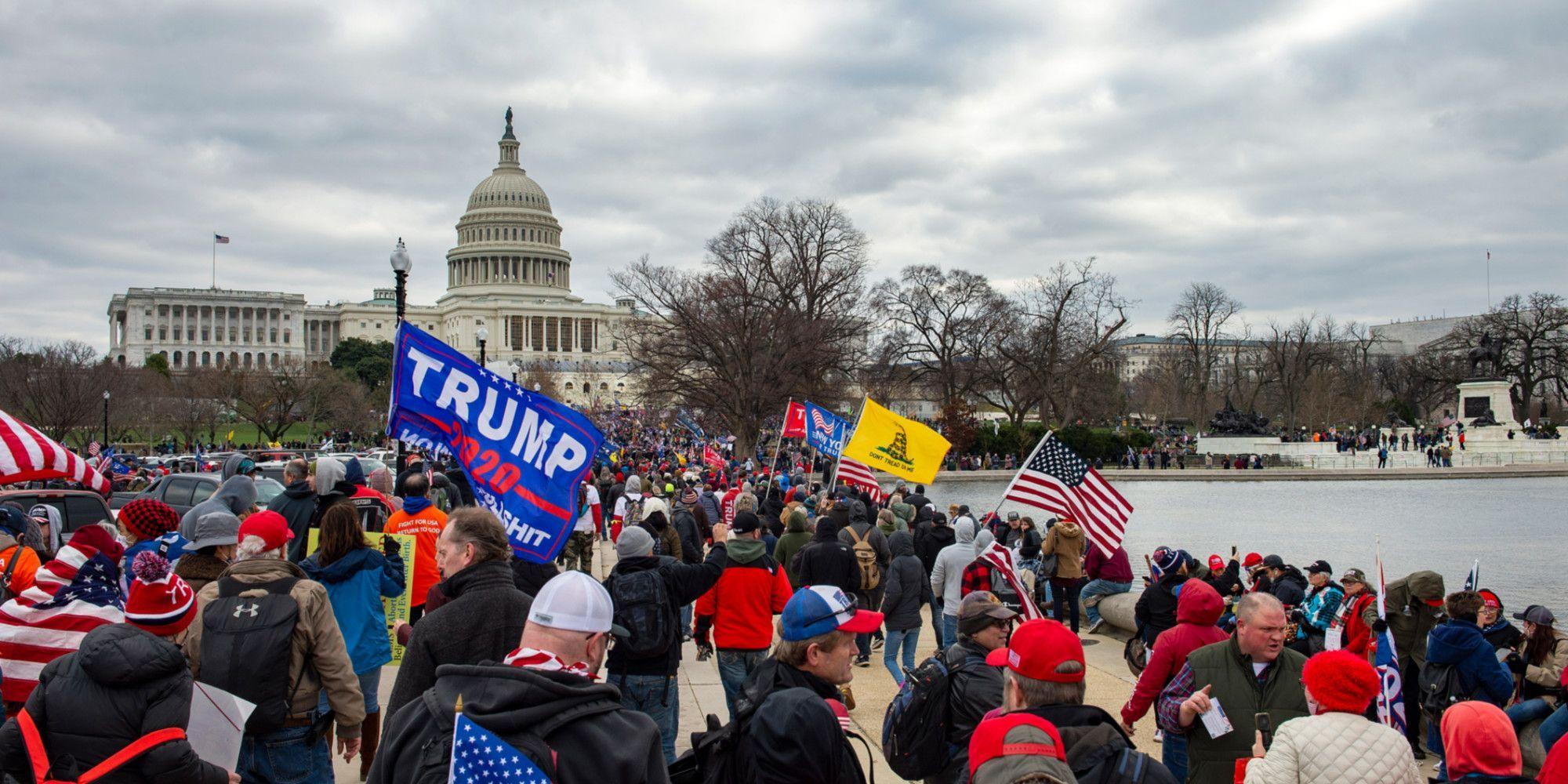 Rassemblement des partisans de Donald Trump dans la journée du 6 janvier.