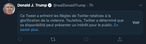 Tweet de Donald Trump