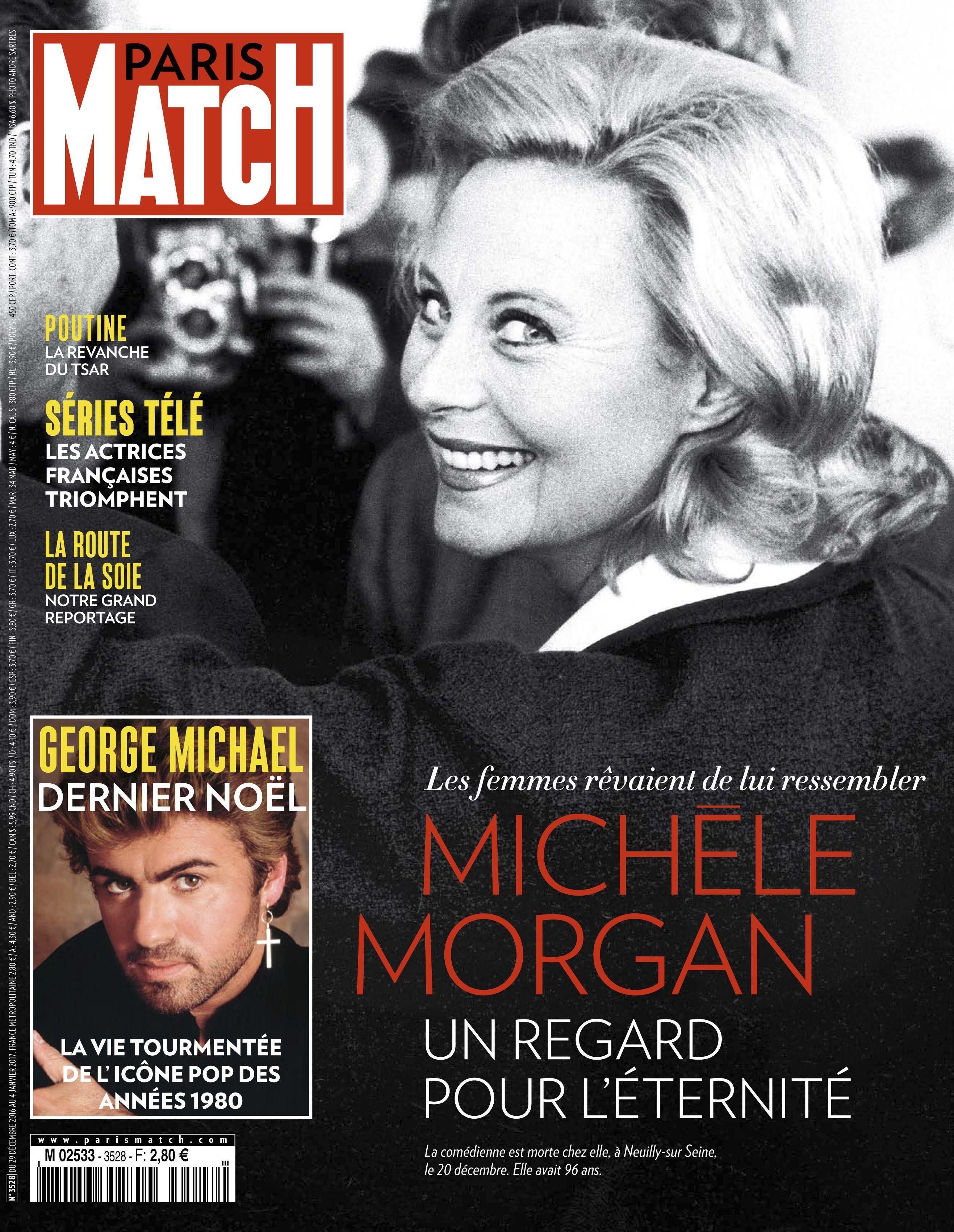 """Une de """"Paris Match"""" avec Michèle Morgan"""