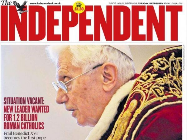 une the independent pape