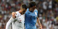 Ronaldo et Cavani (1280x640) Jonathan NACKSTRAND / AFP