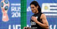 Edinson Cavani à l'entraînement (1280x640) Martin BERNETTI / AFP