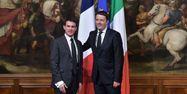 08.03.Manuel Valls Matteo Renzi.GABRIEL BOUYS  AFP.1280.640