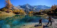 Lac bleu d'Arolla Suisse