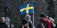 Suède drapeau coronavrirus