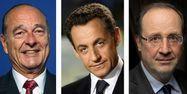 Jacques Chirac, Nicolas Sarkozy et François Hollande - AFP - 1280