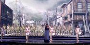 Lisa Angell lors des répétitions de l'Eurovision