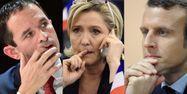 Hamon Le Pen Macron 1280