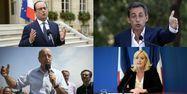 Hollande Sarkozy Le Pen Juppé AFP 1280