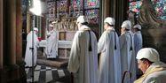L'archevêque de Paris Notre-Dame messe KARINE PERRET / POOL / AFP