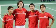 Équipe du Japon de Coupe Davis (1280x640) JIJI PRESS/AFP