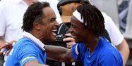 Noah et Monfils en Guadeloupe (1280x640) Miguel MEDINA/AFP