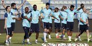 Joueurs de l'équipe de France à l'entraînement (1280x640) Loïc VENANCE/AFP