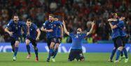 Italie Espagne victoire tirs au but Euro @CARL RECINE / POOL / AFP