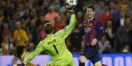 Lionel Messi face au Bayern Munich (1280x640) Lluis Gene /AFP