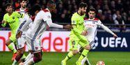 Lionel Messi face à l'OL en Ligue des champions (1280x640) FRANCK FIFE / AFP