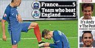 Une du Daily Mail sur la victoire de la France, 1280x640