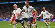 Harry Kane but Danemark Angleterre Euro @Laurence Griffiths / POOL / AFP