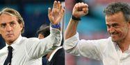 Roberto Mancini Luis Enrique Italie Espagne Euro @AFP