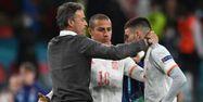 Luis Enrique Espagne Euro Italie tristesse @Andy Rain / POOL / AFP