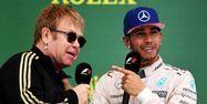 Elton John Lewis Hamilton GP Etats-Unis Formule 1 F1 AFP