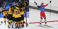 Équipe d'Allemagne de hockey et Marit Björgen (1280x640) Montage AFP Brendan Smialowski / Christof STACHE