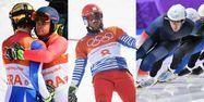Alexis Pinturault, Sylvain Dufour et Alexis Contin à Pyeongchang (640x640) Montage AFP Martin BERNETTI / Loïc VENANCE / Mladen ANTONOV