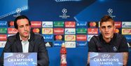 Emery et Verratti en conférence de presse (1280x640) Franck FIFE/AFP