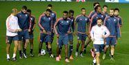 Les joueurs de l'Olympique lyonnais (1280x640) Jose JORDAN/AFP